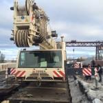 Кран автомобильный Terex 140 тн выгрузка